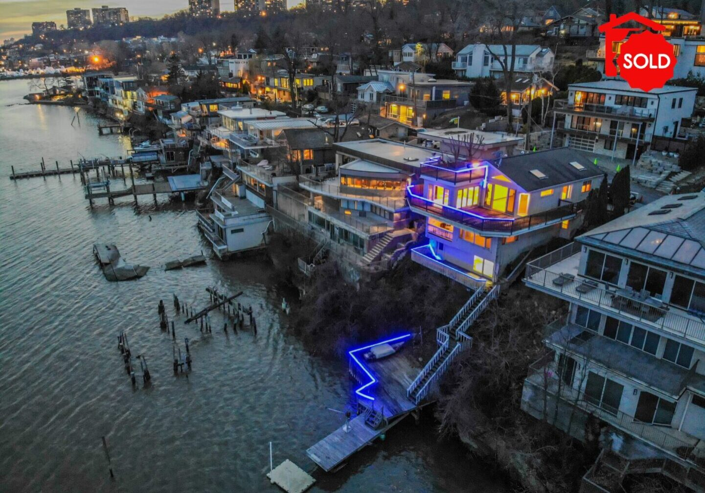 SOLD - 27 Shore Road Edgewater, NJ 07020 <br><br>$1,799,000